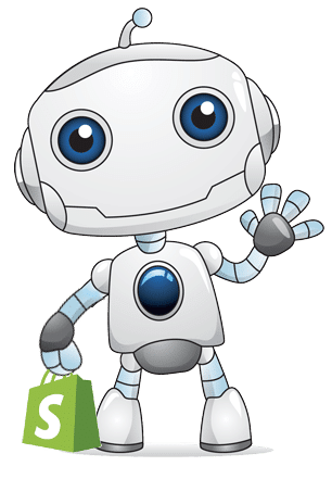 webBotz Mascot with Shopify